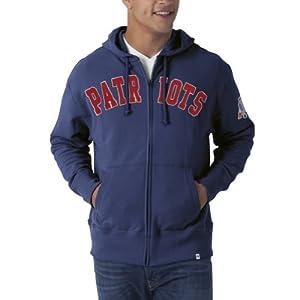NFL New England Patriots Mens Striker Full Zip Jacket by