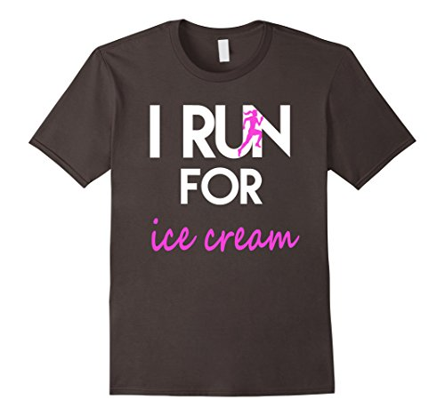 Men's I run for ice cream T-Shirt fitness workout running Small Asphalt (I Run For Ice Cream Shirt compare prices)