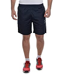Surly Navy Blue Plain Polyester Shorts