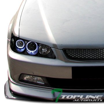 Blk Halo Projector Head Lights Signal Amber V2+Grill Grille Accord 2D 2Dr (Grill Accord 99 compare prices)