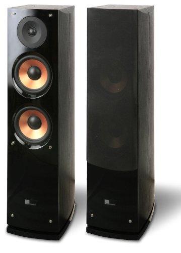 Pure Acoustics HiFi-Heimkino Standlautsprecher 440 Watt Schwarz/Bronze - Paar
