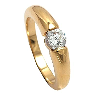 Accessories of Envy18ct Gold Filled Solitaire 5mm Simulated Diamond Wedding Ring
