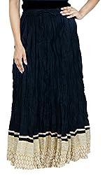 Rangreja Women's Skirt (WESK101BK33_Black_33)