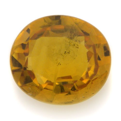 Natural Africa Yellow Sapphire Loose Gemstone Oval Cut 5*5mm 0.75cts Amazing