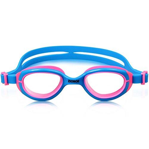 Schwimmbrille für Kinder, ZIONOR K2 Farbenreich Taucherbrille mit Anti-Nebel Linse UV-Schutz Wasserdicht komfortable verstellbare Bügel für die Jugend Kinder Jungen Mädchen