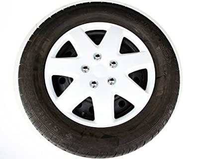 ABS Plastic Aftermarket Wheel Cover White Paint Speical Finish 16 Inch Hubcaps 4 Pieces