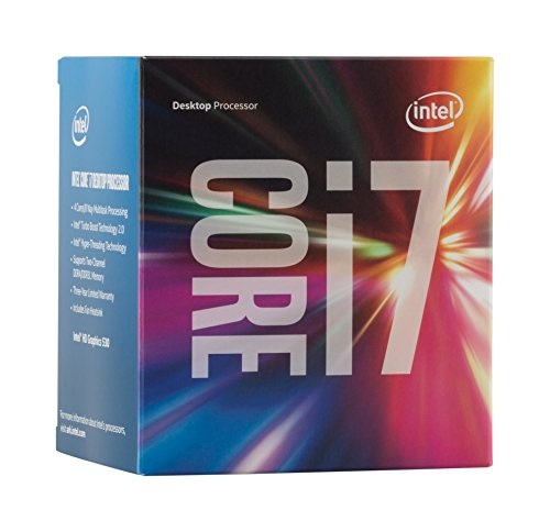 Intel Box Core Processore i7-6700, Argento