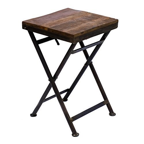 klapptisch beistelltisch hocker holz eisen massiv gartentisch balkontisch stabil vintage. Black Bedroom Furniture Sets. Home Design Ideas