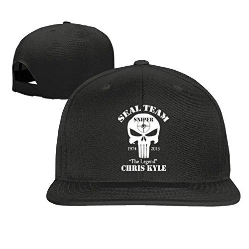 Unisex The legend chris kyle seal team sniper snap back hat Black One Size (Devgru Cap compare prices)