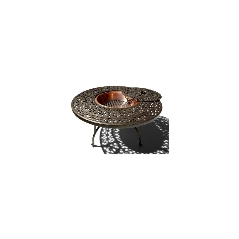 Strathwood St Thomas Cast Aluminum Fire Pit With Table Free Mini