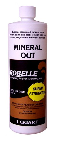 Robelle Mineral Out Metal & Scale Stain Remover Chemical For Swimming Pools 12 X 32 Oz Bottles (384 Oz Total)