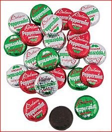 Christmas Peppermint Patties - Chocolate Mint - Candy