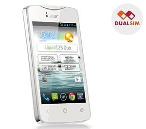 ACER Liquid Z3 Duo - white - dual SIM smartphone + High Speed Class 10 16 GB microSD Card + mini USB 2.0 reader