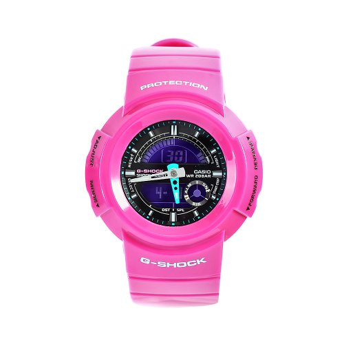 Casio Women's AW582SC-4 G-Shock Pink Resin Ana-Digi Shock Resistant Watch