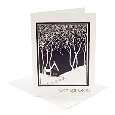 V&A Christmas Cards - House in the Snow (Pack of 10, Large Rectangle)||RF20F||EVAEX