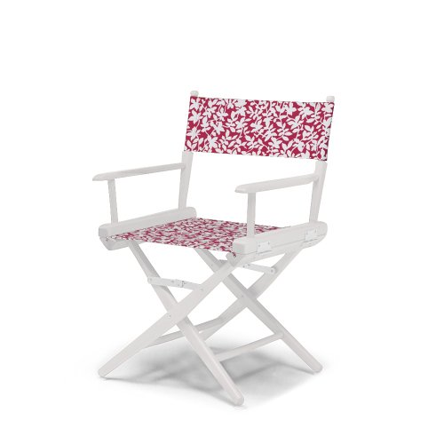 Telescope Casual World Famous Dining Height Director Chair, Cherry With White Frame