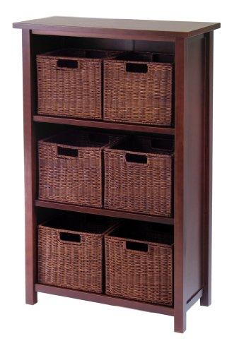 Milan 7Pc Cabinet / Shelf With Baskets; 6 Small