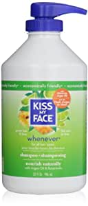 Kiss My Face Whenever Shampoo, Green Tea & Lime, Value Size, 32 Ounce