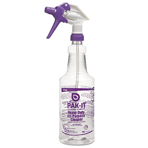 PAK-IT BIG 5744-2000-4012 Purple PET Color-Coded Trigger-Spray Bottle, 32 oz., Heavy-Duty All Purpose Cleaner (Spray Bottle 32 Oz compare prices)