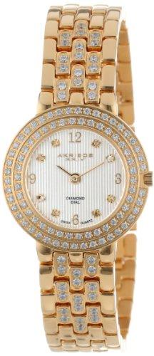 Akribos XXIV Women's AK598YG Impeccable Diamond Swiss Quartz Bracelet Watch