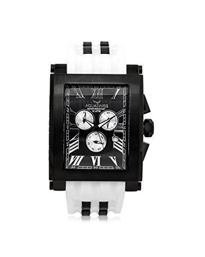 Aquaswiss Men's 64XG012 Tanc XG White/Black Silicone Watch