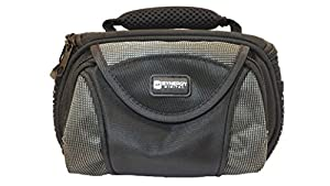 Canon Vixia HF R400 Camcorder Case Camcorder and Digital Camera Case - Carry Handle & Adjustable Shoulder Strap - Black / Grey - Replacement by Synergy
