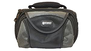 Panasonic HC-V700M Camcorder Case Camcorder and Digital Camera Case - Carry Handle & Adjustable Shoulder Strap - Black / Grey - Replacement by Synergy
