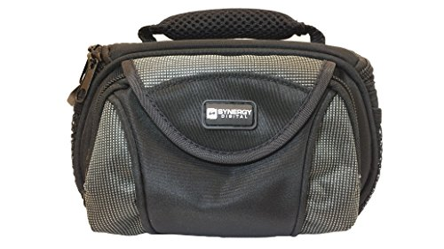 Canon PowerShot SX510 HS Digital Camera Case Camcorder and Digital Camera Case - Carry Handle & Adjustable Shoulder Strap - Black / Grey - Replacement by Synergy (Hs Camcorder compare prices)