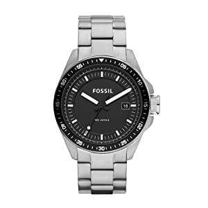 Fossil Men's AM4385 Stainless Steel Analog Black Dial Watch