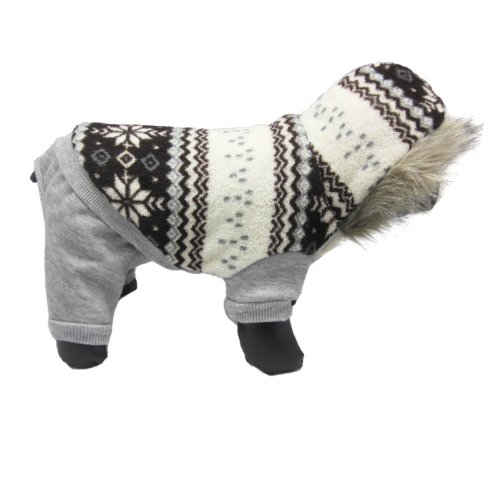 Alfie Pet Apparel by Petoga Couture - Nova Hooded Jumper - Color: Grey, Size: M