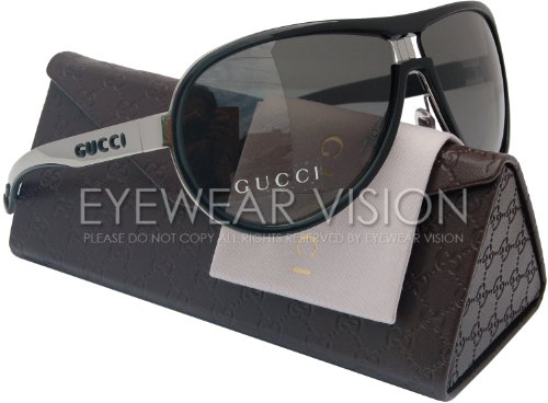 75098dd2551 GUCCI GG1566 S Aviator Sunglasses Black Ruthenium 0REE 1566 S REE 95 66mm