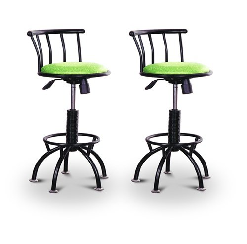 "2 24""-29"" Glitter Green Seat Black Adjustable Specialty / Custom Barstools Set"