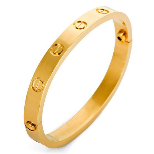 Justeel Jewelry Men Gold Screw Stainless Steel