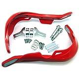 TMS® Red Handlebar Hand Brush Guards for Honda Motocross Off-Road ATV Dirt Bike Dualsport Motorcycle MX XL XR CRF 200 250 350 400 450 500 600 650