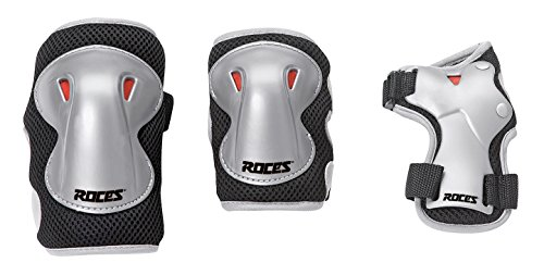 Roces Super Protezioni Skates, 3 Pezzi, Nero/Grigio, M Junior