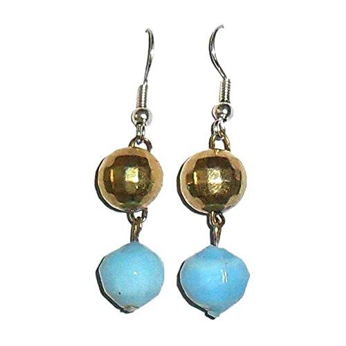 Beadworks Beadworks Beaded Earrings - Faceted Round Shape Beaded Earrings (Multicolor)
