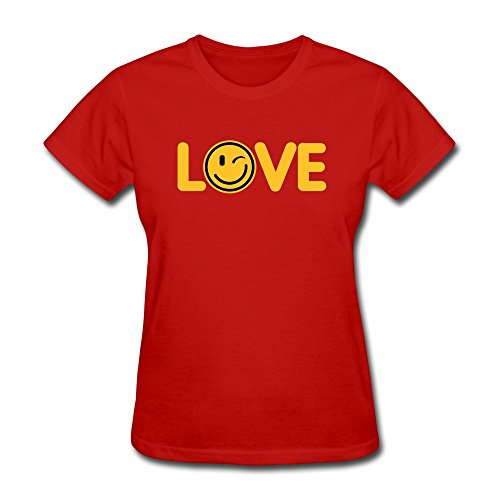Printing Machine Lady Love Smile Face Pure Cotton Tees front-71801