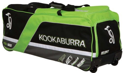 Kookaburra Pro 600 Cricket Bag - Black/Lime/Silver