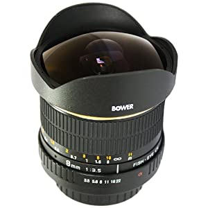 Bower Ultra Wide-Angle 8mm f/3.5 Fisheye Lens for Nikon - SLY358N