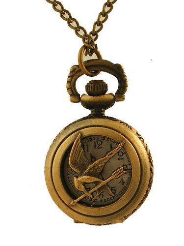 Steampunk Pendant Watch - Hunger Games Design on Lid with 28