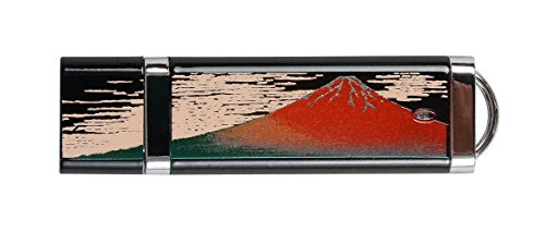 まえじゅう漆器 漆芸USBメモリー 4GB 赤富士