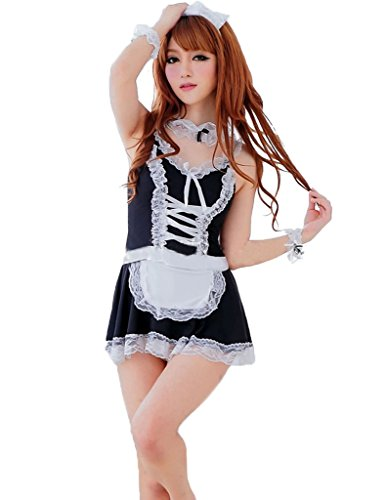 Queeneyes Sexy Dust Bunny Maid Costume Cosplay Lolita French Maid Costume
