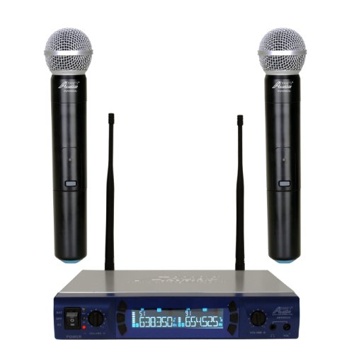 Audio2000'S 6952U Uhf 200 Frequency Portable Wireless Microphone With Handheld