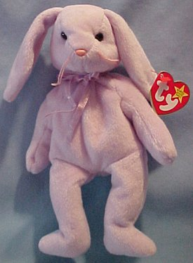 Ty Beanie Baby Floppity the Lilac Bunny Rabbit