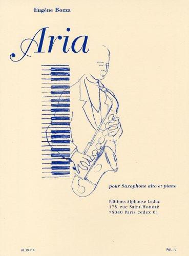 ボザ : アリア/ルデュック社ピアノ伴奏付サクソフォン・ソロ
