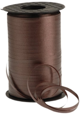 "Curling - Ribbon Brown, For tying balloons etc ,500 Yards, 3/16"" wide"