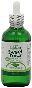 SweetLeaf SteviaClear Liquid Stevia, 4-Ounce Bottles (Pack of 2)