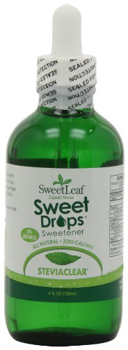 SweetLeaf Sweet Drops Liquid Stevia Sweetener, SteviaClear, 4 Ounce (Pack of 2) (Stevia Clear Liquid Extract 4 Oz compare prices)