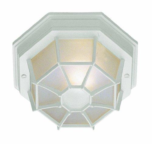 Trans Globe Lighting 40581 WH 4-Inch 1-Light Small Flush Mount, White