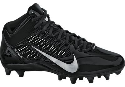 Nike Alpha Pro 3/4 TD Mens Molded Football Cleats (11, Black/Metallic Silver)
